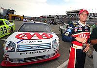 Jul. 4, 2008; Daytona Beach, FL, USA; NASCAR Sprint Cup Series driver David Ragan during qualifying for the Coke Zero 400 at Daytona International Speedway. Mandatory Credit: Mark J. Rebilas-