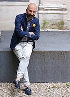 Lo scrittore Donato Carrisi ritratto in occasione del Festival Internazionale delle Letterature a Roma, 22 giugno 2015.<br /> Italian writer Donato Carrisi portrayed in occasion of the International Literature Festival, in Rome, 22 June 2015.<br /> UPDATE IMAGES PRESS/Riccardo De Luca