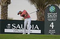 Shubhankar Sharma (IND) on the 4th tee during the 1st round of  the Saudi International powered by Softbank Investment Advisers, Royal Greens G&CC, King Abdullah Economic City,  Saudi Arabia. 30/01/2020<br /> Picture: Golffile | Fran Caffrey<br /> <br /> <br /> All photo usage must carry mandatory copyright credit (© Golffile | Fran Caffrey)