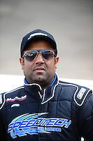 Jun. 17, 2011; Bristol, TN, USA: NHRA pro mod driver Khalid Balooshi during qualifying for the Thunder Valley Nationals at Bristol Dragway. Mandatory Credit: Mark J. Rebilas-