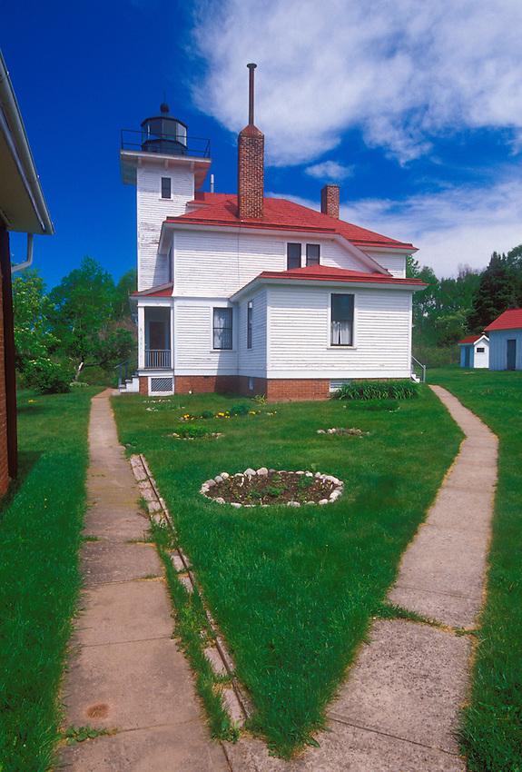 The Raspberry Island Lighthouse on Raspberry Island in the Apostle Islands National Lakeshore.