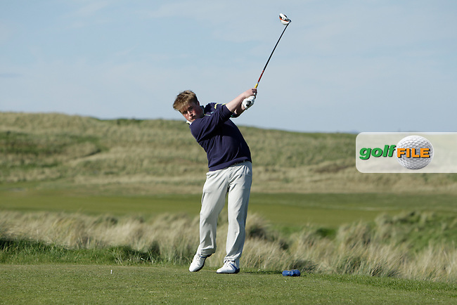 James McVicker (Knock) during round 1 of The West of Ireland Amateur Open in Co. Sligo Golf Club on Friday 18th April 2014.<br /> Picture:  Thos Caffrey / www.golffile.ie