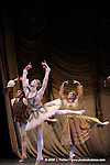 RAYMONDA..Choregraphie : PETIPA Marius,NOUREEV Rudolf.Compagnie : Ballet de l Opera National de Paris.Orchestre : Colone.Decor : GEORGIADIS Nicholas.Lumiere : PEYRAT Serge.Costumes : GEORGIADIS Nicholas.Avec :.GILLOT Marie Agnes:Raymonda.COZETTE Emilie:Clemence.HOFFALT Josua:Beranger.Lieu : Opera Garnier.Ville : Paris.Le : 30 11 2008.© Laurent PAILLIER / photosdedanse.com