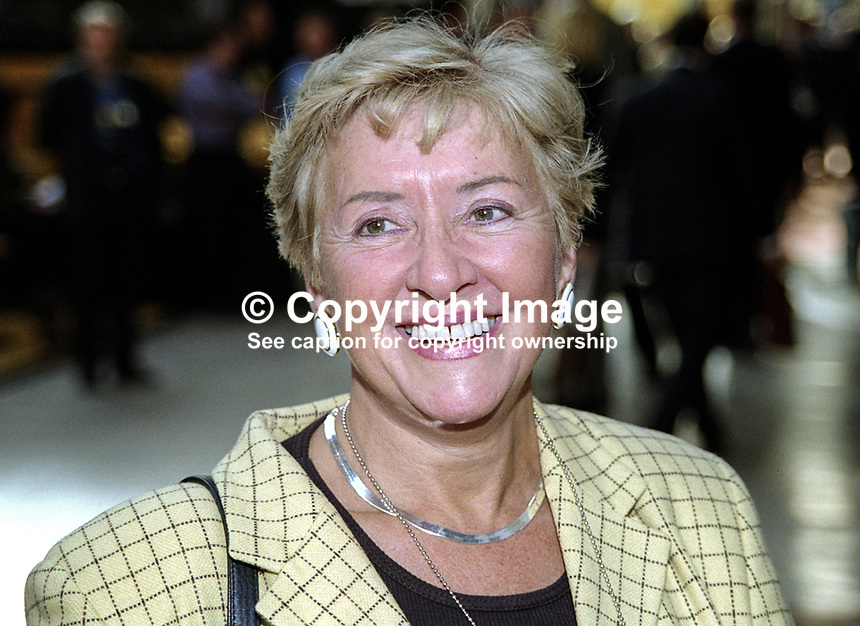 Teresa Gorman, MP, Conservative Party, Britain, UK. Taken at Conservative Party Conference, Blackpool. Ref: 199910078..Copyright Image from Victor Patterson, 54 Dorchester Park, Belfast, UK, BT9 6RJ..Tel: +44 28 9066 1296.Mob: +44 7802 353836.Voicemail +44 20 8816 7153.Skype: victorpattersonbelfast.Email: victorpatterson@mac.com.Email: victorpatterson@ireland.com (back-up)..IMPORTANT: If you wish to use this image or any other of my images please go to www.victorpatterson.com and click on the Terms & Conditions. Then contact me by email or phone with the reference number(s) of the image(s) concerned.