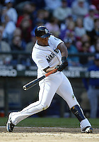 04 October 2009: Seattle Mariners third baseman #29 Adrian Beltre takes a swing in his at bat against the Texas Rangers. Seattle won 4-3 over the Texas Rangers at Safeco Field in Seattle, Washington.