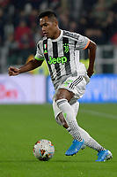 30th October 2019; Allianz Stadium, Turin, Italy; Serie A Football, Juventus versus Genoa; Alex Sandro of Juventus on the ball - Editorial Use
