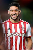 Neal Maupay, scorer of two goals for Brentford, celebrates at the final whistle during Brentford vs Wigan Athletic, Sky Bet EFL Championship Football at Griffin Park on 15th September 2018