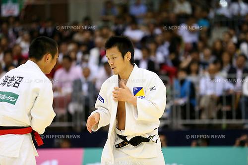 (L-R) Masashi Ebinuma, Masaaki Fukuoka, MAY 11, 2013 - Judo : All Japan Selected Judo Championships Men's -66kg at Fukuoka Convention Center, Fukuoka, Japan. (Photo by YUTAKA/AFLO SPORT)