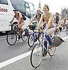 World Naked Bike Ride<br /> London , Great Britain <br /> 11th June 2016 Naked cyclists riding through the streets of London to protest about pollution and poor air quality.<br /> <br /> <br /> <br /> <br /> Photograph by Elliott Franks <br /> Image licensed to Elliott Franks Photography Services