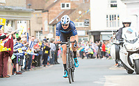Picture by SWpix.com - 03/05/2018 - Cycling - 2018 Tour de Yorkshire - Stage 1: Beverley to Doncaster - Harry Tanfield of Team Canyon Eisberg  passes through Pocklington