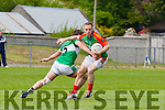 Darran O'Sullivan Mid Kerry slips past Legion's Damien O'Sullivan during their County SFC round 1 game in Killorglin on Sunday