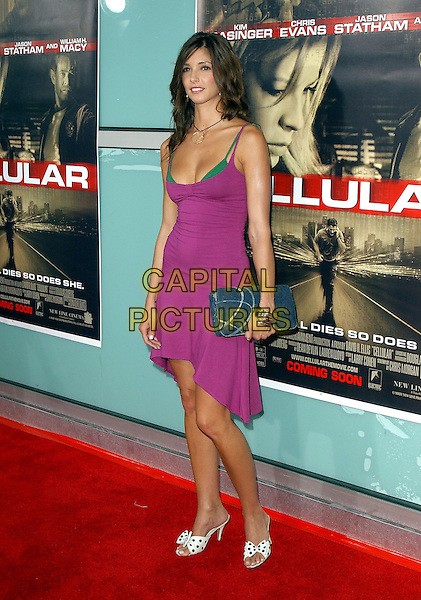 "CHANTILLE BOUDOUSQUE.New Line Cinema's World Premiere of ""Cellular"" held at The Cinerama Dome in Hollywood, California .September 9, 2004.full length, polka dot shoes, purple dress, green bra, lingerie, clutch purse, bag.www.capitalpictures.com.sales@capitalpictures.com.Copyright by Debbie VanStory."