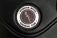 Boreham Wood badge on a seat in the dugout during Arsenal Women vs Sunderland AFC Ladies, FA Women's Super League FA WSL1 Football at Meadow Park on 12th November 2017