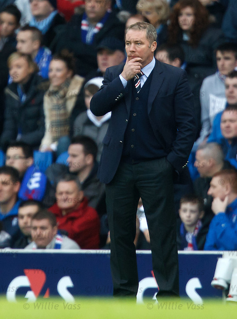 Ally McCoist puzzling on the sidelines