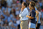24 August 2012: UNC head coach Anson Dorrance. The University of North Carolina Tar Heels played the University of Florida Gators to a 0-0 overtime tie at Fetzer Field in Chapel Hill, North Carolina in a 2012 NCAA Division I Women's Soccer game.