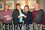 Presentation : A cheque for EUR1300.00 being presented to Sr. Consolata by Frances Kennedy, the proceeds of a concert held in St John.s  Listowel recently. The money goes to help Sr Eileen Watson in her work for flood relief in Pakistan. Sonnyy Egan, Frances Kennedy, Sr. Consolata & Patsy Kennedy...