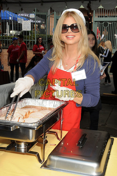 25 November 2015 - Los Angeles, California - Donna D'Errico. 2015 Los Angeles Mission Thanksgiving Meal for the Homeless held at the LA Mission. <br /> CAP/ADM/BP<br /> &copy;BP/ADM/Capital Pictures