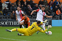 Scott Loach of Barnet makes a good save during Barnet vs Woking, Vanarama National League Football at the Hive Stadium on 12th October 2019