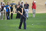 Ian Poulter plays his 2nd shot from the rough on the 8th hole during Day 2 Friday of the Abu Dhabi HSBC Golf Championship, 21st January 2011..(Picture Eoin Clarke/www.golffile.ie)