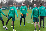 17.01.2020, Trainingsgelaende am wohninvest WESERSTADION,, Bremen, GER, 1.FBL, Werder Bremen Training ,<br /> <br /> <br />  im Bild<br /> <br /> Stefanos Kapino (Werder Bremen #27)<br /> Kevin Vogt (Werder Bremen Neuzugang #03)<br /> Davy Klaassen (Werder Bremen #30)<br /> Sebastian Langkamp (Werder Bremen #15)<br /> Marco Friedl (Werder Bremen #32)<br /> <br /> Foto © nordphoto / Kokenge