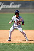 Detroit Tigers Yomar Valentin (86) during a Minor League Spring Training game against the New York Yankees on March 21, 2018 at the New York Yankees Minor League Complex in Tampa, Florida.  (Mike Janes/Four Seam Images)