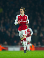 Arsenal's Ben Sheaf during the Carabao Cup QF match between Arsenal and West Ham United at the Emirates Stadium, London, England on 19 December 2017. Photo by Andrew Aleksiejczuk / PRiME Media Images.