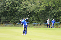 Alexander Knappe (GER) plays his 2nd shot on the 15th hole during Sunday's Final Round of the Northern Ireland Open 2018 presented by Modest Golf held at Galgorm Castle Golf Club, Ballymena, Northern Ireland. 19th August 2018.<br /> Picture: Eoin Clarke | Golffile<br /> <br /> <br /> All photos usage must carry mandatory copyright credit (&copy; Golffile | Eoin Clarke)