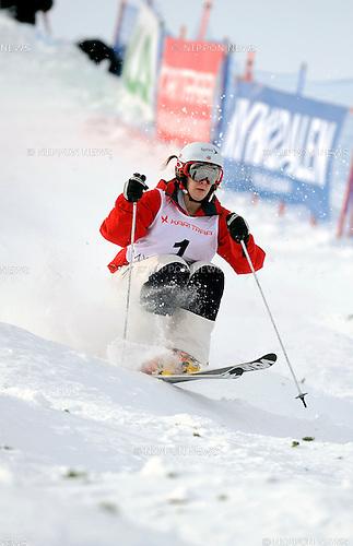 Hannah Kearny (USA), MARCH 6, 2013 - Moguls : FIS Freestyle Skiing World Championships Women's Moguls Final in Voss, Norway. (Photo by Hiroyuki Sato/AFLO)