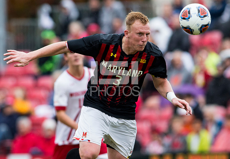 College Park, MD - Sunday November 05, 2017: The University of Wisconsin defeated the University of Maryland 2-1 in a Big10 tournament quarterfinal match at Ludwig Field.
