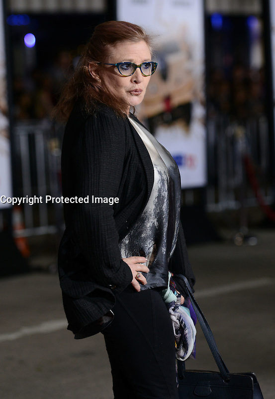 CARRIE FISHER @ the premiere of 'Dumb And Dumber To' held @ the Regency Village theatre. November 3, 2014