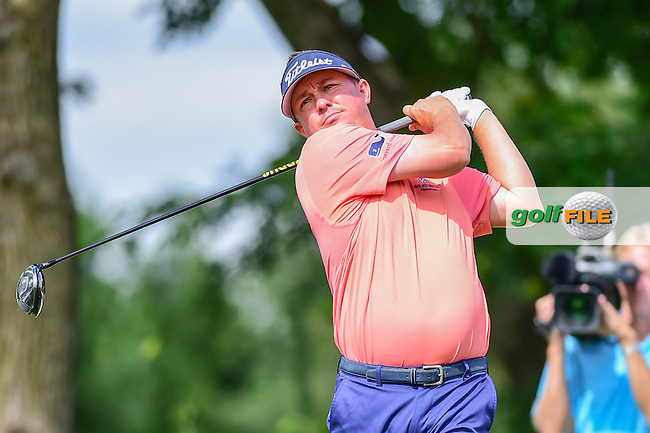 Jason Dufner (USA) watches his tee shot on 6 during the round 1 of  the AT&amp;T Byron Nelson, TPC Four Seasons, Irving, Texas, USA. 5/19/2016.<br /> Picture: Golffile | Ken Murray<br /> <br /> <br /> All photo usage must carry mandatory copyright credit (&copy; Golffile | Ken Murray)