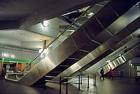 Milano, scale mobili alla stazione Repubblica del passante ferroviario --- Milan, escalators at suburban railway station Repubblica