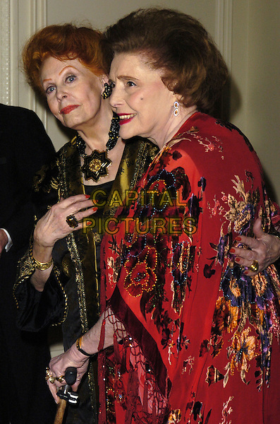 ARLENE DAHL & PATRICIA NEAL .The Academy of Motion Picture Arts & Sciences' Official New York Oscar Night Celebration at the St. Regis Hotel, New York, New York, USA..February 21st, 2007.half length black  yellow red necklace profile .CAP/ADM/BL.©Bill Lyons/AdMedia/Capital Pictures *** Local Caption ***