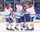 Kelly Sullivan, Lowell ?, Mark Roebothan, Lowell ?, Jake Pence - The University of Massachusetts-Lowell River Hawks defeated the Boston College Eagles 6-3 on Saturday, February 25, 2006, at the Paul E. Tsongas Arena in Lowell, MA.