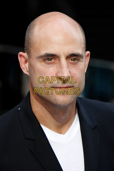 MARK STRONG.The World Premiere of 'Inception' at the Odeon Leicester Square cinema, Leicester Square, London, England, UK. .July 8th 2010 .headshot portrait black white .CAP/MAR.© Martin Harris/Capital Pictures.
