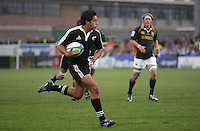 New Zealand fullback Trent Renata races in to score the second try during the U19 Championship final against South Africa at Ravenhill, Belfast.