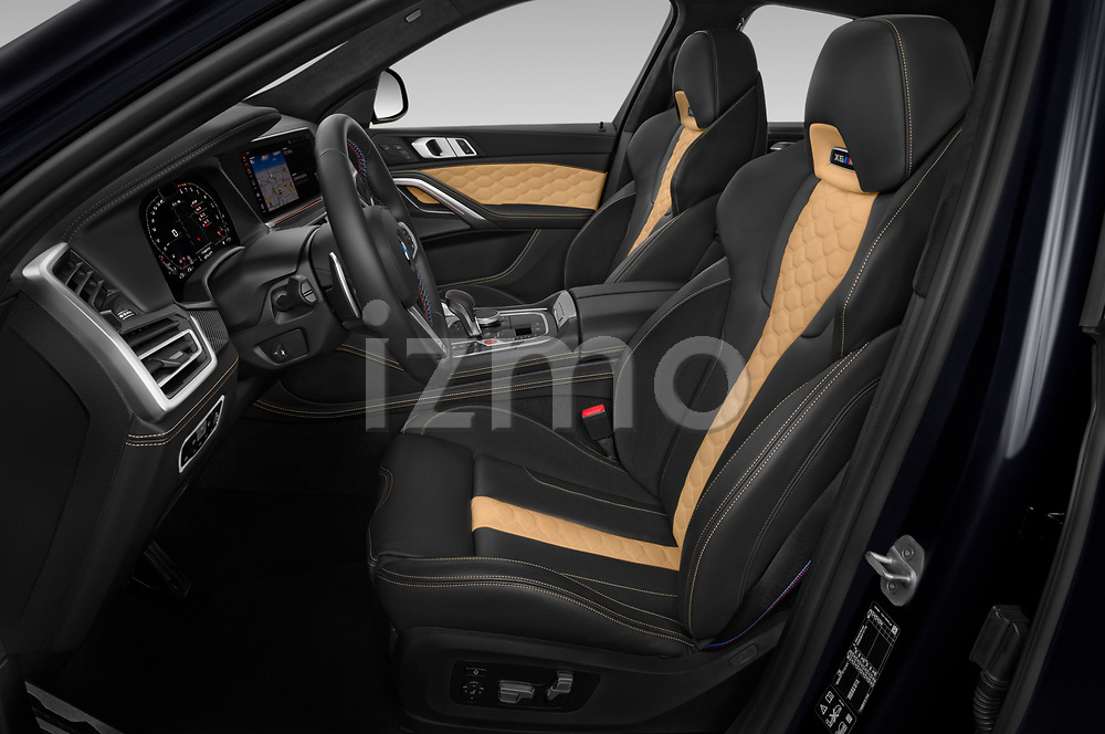Front seat view of 2020 BMW X6-M Competition 5 Door SUV Front Seat  car photos
