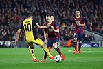 UEFA Champions League 2013/2014.<br /> Quarter-finals 1st leg.<br /> FC Barcelona vs Club Atletico de Madrid: 1-1.<br /> Arda Turan vs Andres Iniesta.
