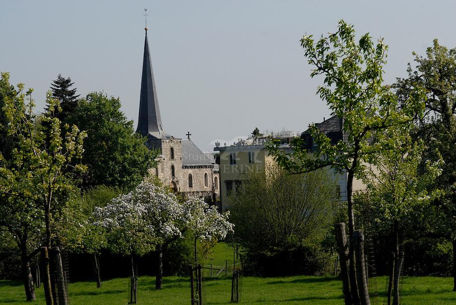 Zicht op de kerk van Mechelen, Zuid-Limburg