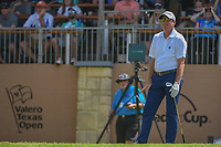 Jim Herman (USA) watches his tee shot on 16 during day 2 of the Valero Texas Open, at the TPC San Antonio Oaks Course, San Antonio, Texas, USA. 4/5/2019.<br /> Picture: Golffile | Ken Murray<br /> <br /> <br /> All photo usage must carry mandatory copyright credit (&copy; Golffile | Ken Murray)