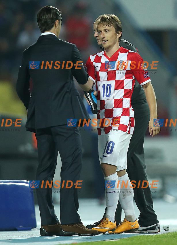 Luka Modric, Niko Kovac  <br /> 13.10.2014, Stadio Gradski UEFA EURO 2016 Qualifier group H match Croatia - Azerbaijan <br /> Foto EXPA/ Pixsell/ Igor Kralj /Insidefoto