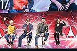 Actors Mads Mikkelsen, Nathan Fillion, Karl Urban and Karen Fukuhara, attend a talk show during the Tokyo Comic Con 2017 at Makuhari Messe International Exhibition Hall on December 1, 2017, Tokyo, Japan. This is the second year that San Diego Comic-Con International held the event in Japan. Tokyo Comic Con runs from December 1 to 3. (Photo by Rodrigo Reyes Marin/AFLO)