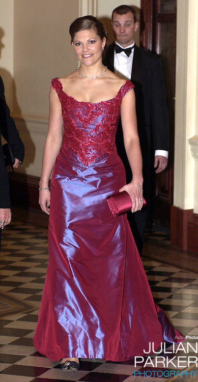 Crown Princess Victoria of Sweden attends a 'Stylish Gala Dinner' at the Sydney Town Hall - during her visit taking part in 'Swedish Style in Australia'..