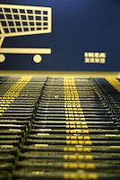 A neat line of shopping carts parked at the IKEA superstore in Shanghai, China. IKEA has attracted many modern Chinese consumers with its attractive designs and affordable price that targets medium income families. Having opened its largest Asian store earlier this year in Shanghai, IKEA plans to open two new stores in China next year in Beijing and Guangzhou..22-OCT-03
