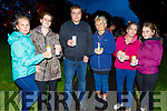 Attending the Open Arms Kerry candlelit vigil in Pearce Park Tralee to mark World Suicide Day on Monday night.<br /> L-r, Sigita Reidy, Catriona O&rsquo;Connor, Mendo Jakavius, Kate Walsh, Niamh O&rsquo;Connor and Kamile Reidy.