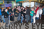 Crowds queuing outside Easons on Friday night waiting to get the final book in the Harry Potter series..
