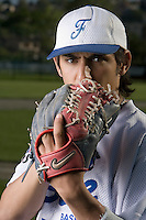 30 April 2008: Thomas Medina of France poses during the first of seven 2008 MLB European Academy Try-out Sessions throughout Europe, at Stade Kandy Nelson Ball Park, in Toulouse, France. Try-out sessions are run by members of the Major League Baseball Scouting Bureau with assistance from MLBI staff.
