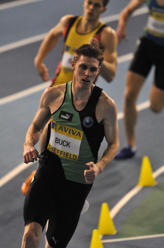 Photo: Tony Oudot/Richard Lane Photography..Aviva European Trials & UK Championships athletics. 14/02/2009. .Richard Buck competing in the mens 400m heats.