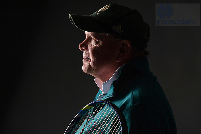 Oct. 30, 2013; Former tennis coach, Bobby Bayliss - Strong of Heart. Photo by Barbara Johnston/University of Notre Dame