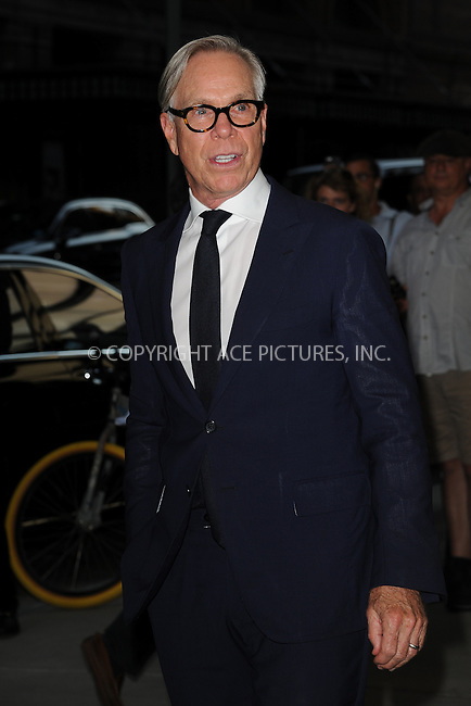 www.acepixs.com<br /> September 8, 2016  New York City<br /> <br /> Tommy Hilfiger attending the The Daily Front Row's 4th Annual Fashion Media Awards at Park Hyatt New York on September 8, 2016 in New York City. <br /> <br /> <br /> Credit: Kristin Callahan/ACE Pictures<br /> <br /> <br /> Tel: 646 769 0430<br /> Email: info@acepixs.com